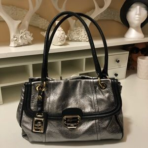 Authentic Bmakowsky  stunning sliver and black bag